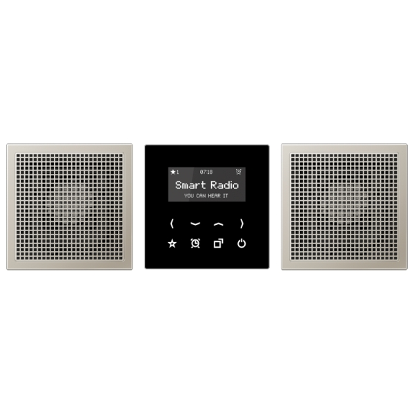 jung rades2928 radio smart radio set stereo lautsprecher edelstahl kaufen elektro wandelt. Black Bedroom Furniture Sets. Home Design Ideas